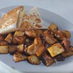 Sausage Egg and Cheese Wrap w/ homefries