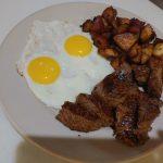 Steak Tips & Eggs